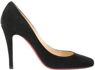 Christian Louboutin \N Black Suede Heels