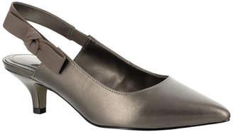 Easy Street Shoes Womens Arden Slip-on Pointed Toe Kitten Heel Pumps