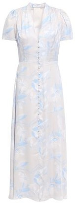 Equipment Gaetan Floral-print Washed Silk-blend Midi Dress