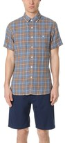 Todd Snyder Short Sleeve Linen Check Shirt