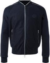 Emporio Armani zip front bomber jacket - men - Cotton/Polyester/Spandex/Elastane - S