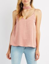Charlotte Russe Floating Choker Neck Tank Top