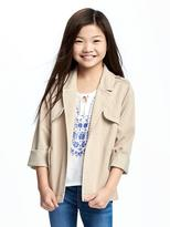 Old Navy Drapey-Twill Trench Coat for Girls
