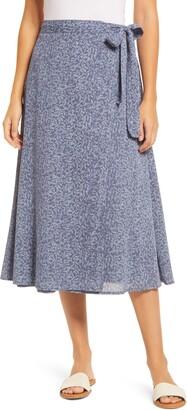 Caslon Faux Wrap Midi Skirt