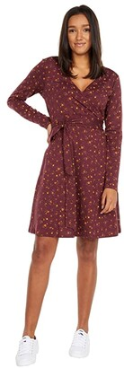 Toad&Co Cue Wrap Long Sleeve Dress (Fir) Women's Dress