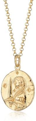 Scream Pretty Gold Virgo Zodiac Necklace