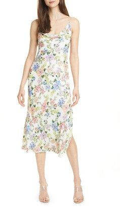 Alice + Olivia Alice + OIivia Harmony Floral Drapey Side Slit Dress