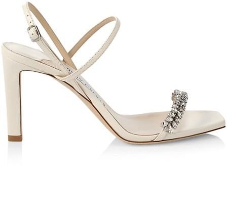Jimmy Choo Meira Embellished Leather Slingback Sandals