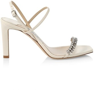 Jimmy Choo Meira Embellished Leather Slingback Sandals