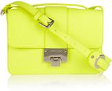 Rebel neon textured-leather shoulder bag
