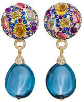 Margot McKinney Jewelry Carnivale Denim Blue Topaz Earrings with Diamonds