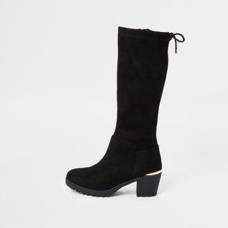 River Island Girls Black knee high boots