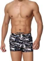 Meijunter Mens Soft Camouflage Swimwear Boxer Shorts Spa Pants Swimming Trunks