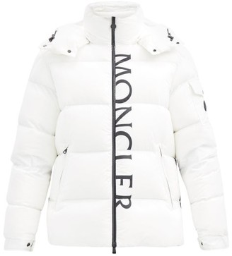 Moncler Maures Logo-print Quilted-down Jacket - White