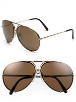 Porsche Design Men's 'P8478' 63Mm Aviator Sunglasses - Light Gold