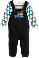 First Impressions 2-Pc. Striped T-Shirt & Boat Overall Set, Baby Boys (0-24 months), Only at Macy's
