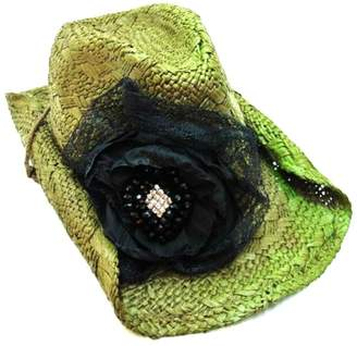 Olive & Pique Lace Flower Cowgirl-Hat
