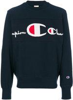 Champion logo panel sweatshirt
