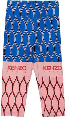 Kenzo Kids Printed Technical Jersey Leggings