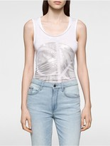 Calvin Klein Circle Palm Logo Tank Top