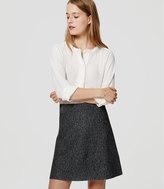 LOFT Petite Speckled Sweater Flippy Skirt