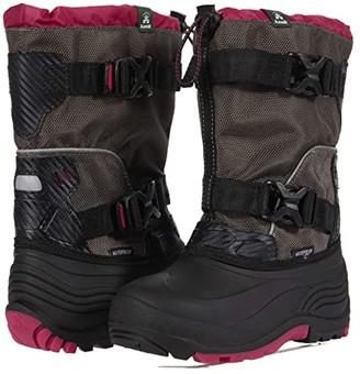 Kamik Glacial 3 (Little Kid/Big Kid) (Charcoal/Pink) Girl's Shoes