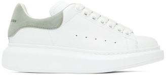 Alexander McQueen SSENSE Exclusive White and Grey Oversized Sneakers