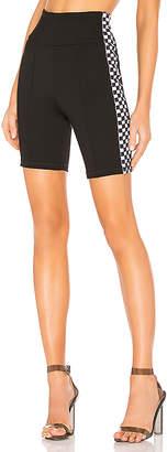 by the way. Sia Checker Side Stripe Biker Short