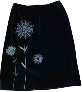 Moschino Cheap & Chic Moschino Cheap And Chic Black Velvet Skirt for Women