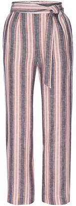 Frame Striped Linen Tie Pants