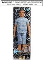 Barbie Ken Fashionistas Man Bun Ken Doll, Little Girls (2-6X) & Big Girls (7-16)