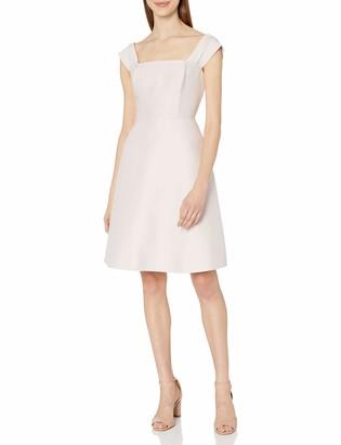 Halston Women's Off Shoulder Silk Faille Dress