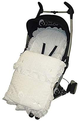 Bugaboo Broderie Anglaise Footmuff/Cosy Toes Compatible with Donkey Buffalo - White