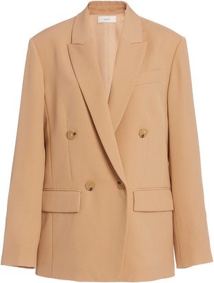 Vince Double-Breasted Cady Blazer