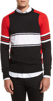 Givenchy Colorblock Lightweight Sweater, Black Multi