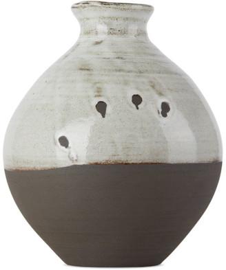 Lily Pearmain SSENSE Exclusive Black and White Tsubo Vase