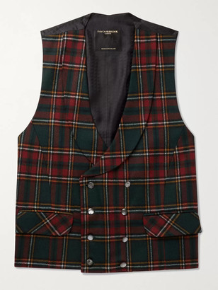 Favourbrook Dunrobin Slim-Fit Double-Breasted Prince of Wales Checked Wool-Blend Waistcoat - Men - Multi