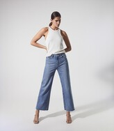 Thumbnail for your product : Reiss Anessa - Paige High Rise Wide Leg Jeans in Light Blue