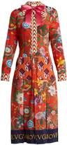 Gucci Floral patchwork-print silk crepe de Chine dress