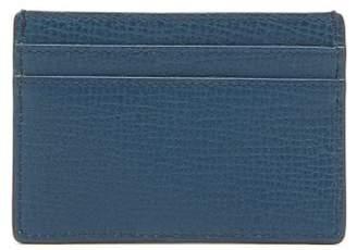 Smythson Grained Leather Cardholder - Mens - Blue