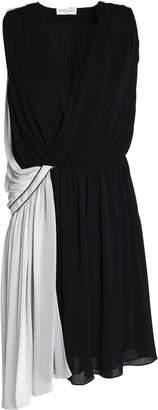 Vionnet Asymmetric Draped Stretch-jersey Mini Dress