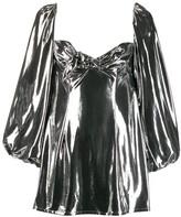 ATTICO The metallized mini dress