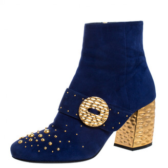 Prada Blue Leather Boots