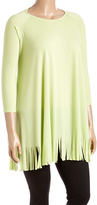 Canari Lime Fringe Tunic - Plus