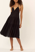 Mara Hoffman Black Tiered Dress