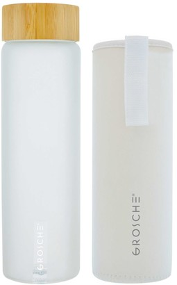 Grosche Venice 22 oz. Frosted Print Glass Water Bottle