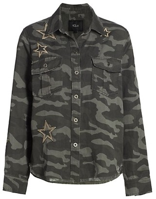 Rails Loren Camo Star Button-Down Top