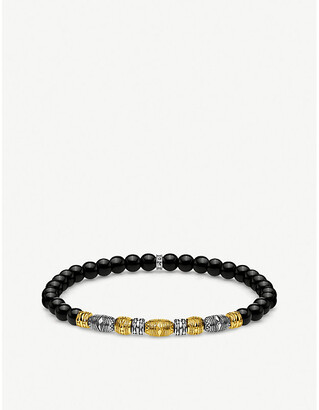 Thomas Sabo Lucky Charms 18ct gold-plated and sterling silver beaded bracelet