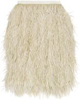 Lassie ostrich-feather skirt