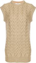 Max Mara sleeveless cable knit vest